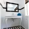 Tallowood Lane Cashmere ensuite white console black frame mirror