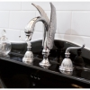 Close up main bathroom tapware black console Cashmere