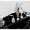 Swan basin set lever tapware black vanity console
