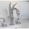 Close up swan mixer and spout set, Cashmere ensuite