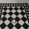 Close-up tile insert floor waste
