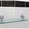 Cashmere ensuite shower shelf