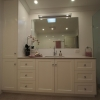 Custom made vanity and linen cupboard