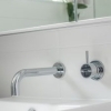 Brisbane bathrooms mirror cabinet vanity above mount basin wall spout mixer
