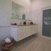 Ascot bathroom ensuite Carrara marble herringbone wall hung vanity