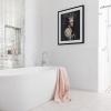 Clayfield bathroom ensuite landscape free standing bath walk in shower glass feature tile niche
